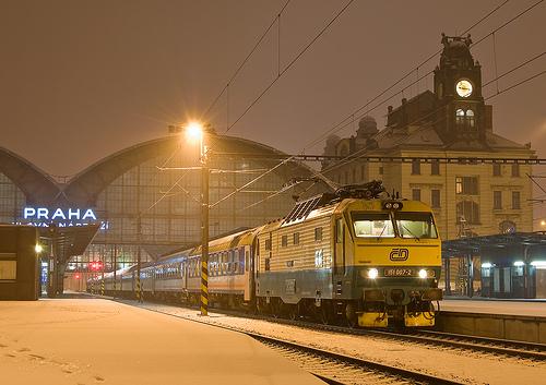 Tren en Praga
