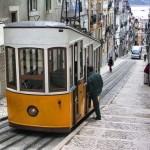 El Funicular de Bica en Lisboa