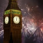 Londres, fuegos artificiales de fin de año