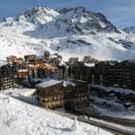 Esquiar en Val Thorens, los Alpes franceses