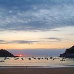 Playas y atardeceres en San Sebastián