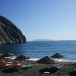 La Playa de Perissa en Santorini