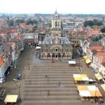 La Plaza del Mercado en Delft, Holanda