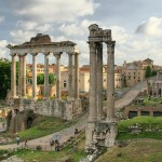 El Templo de Vespasiano y Tito en Roma
