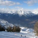 Esquiando en Valais