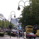 La famosa avenida Kurfürstendamm de Berlín