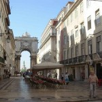 La Rúa Augusta en Lisboa