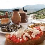 La gastronomía en Creta, sabrosa y natural
