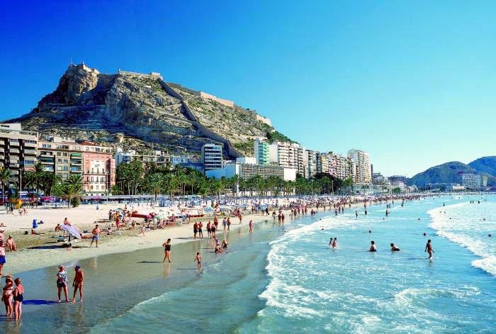 playa postiguet de Alicante